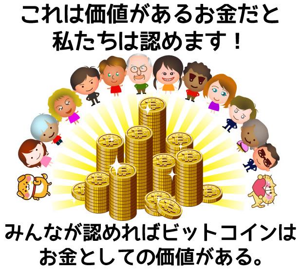 みんなが認めれば通貨としての価値がある