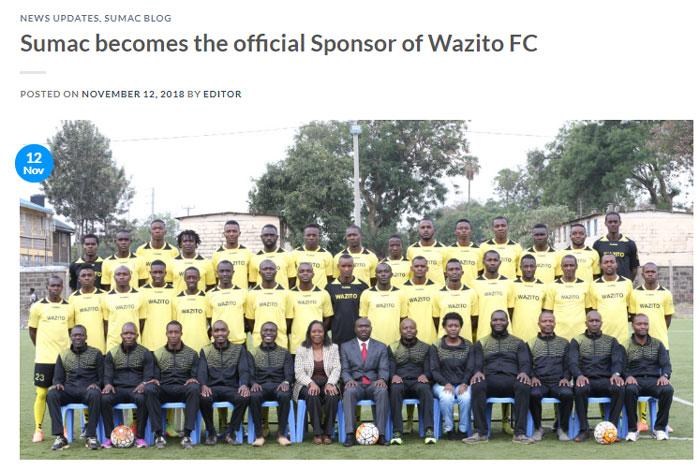wazito FCスポンサー